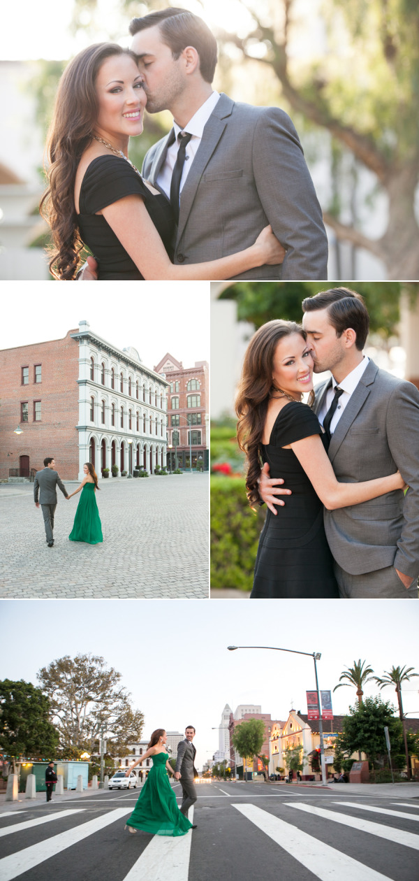 Glamorous Los Angeles Engagement Session – Style Me Pretty
